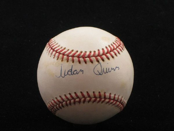 AIDAN QUINN (Actor, Legends of the Fall) Single Signed ONL Baseball Autograph