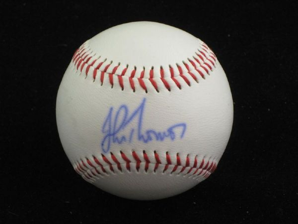 JOHN THOMSON Single Signed Baseball Rockies Braves Mets Rangers JSA Authentic