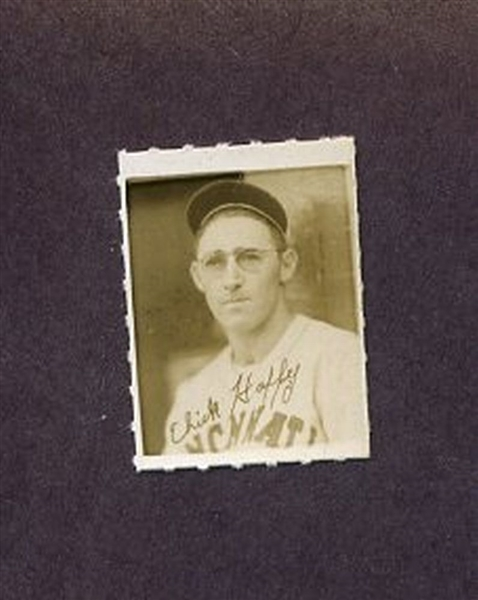 1935-1937 George Burke Photo Stamp CHICK HAFEY Cincinnati Reds