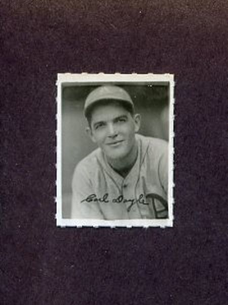 1935-1937 George Burke Photo Stamp CARL DOYLE Philadelphia Athletics