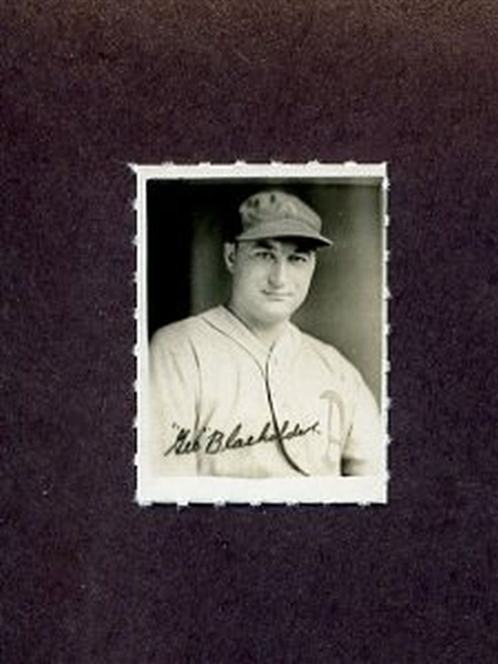 1935-1937 George Burke Photo Stamp GEORGE BLAEHOLDER Philadelphia Athletics
