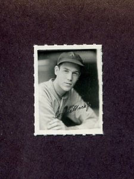 1935-1937 George Burke Photo Stamp CONNIE MACK JR. Philadelphia Athletics