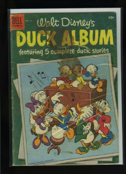 Four Color #611 G 1955 Dell Walt Disney's Duck Album Comic Book