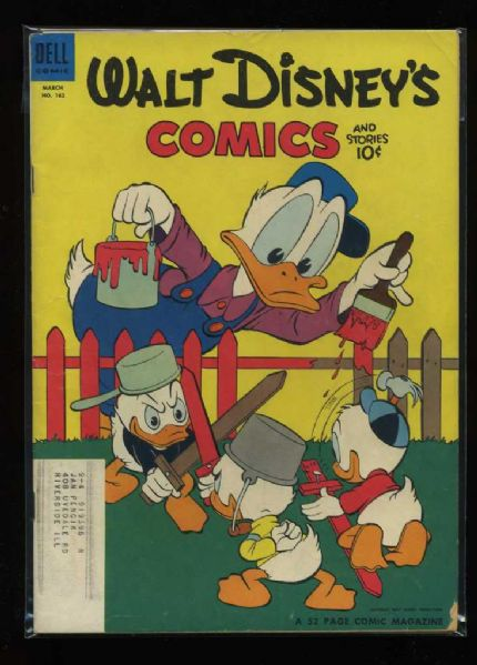 Walt Disney's Comics and Stories #162 VG 1954 Dell Carl Barks Comic Book