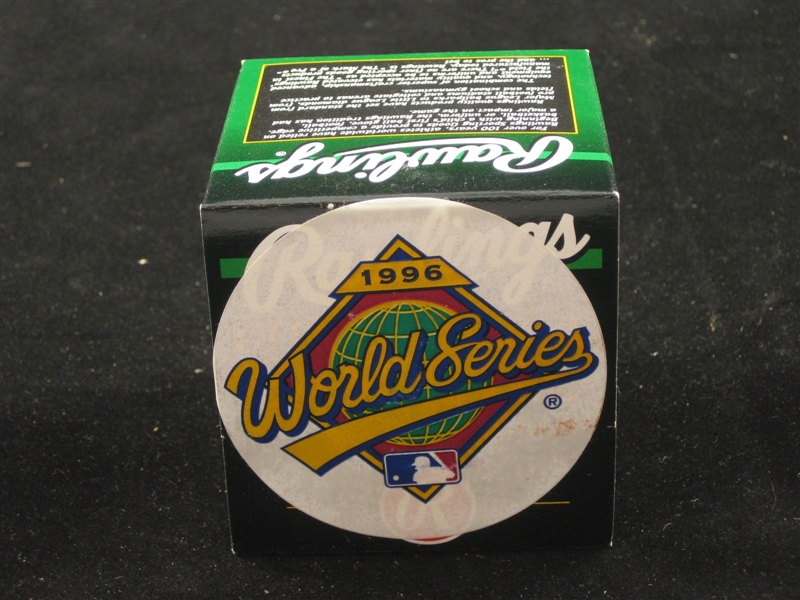 1996 Official World Series Baseball NEW IN BOX UNUSED Yankees Braves