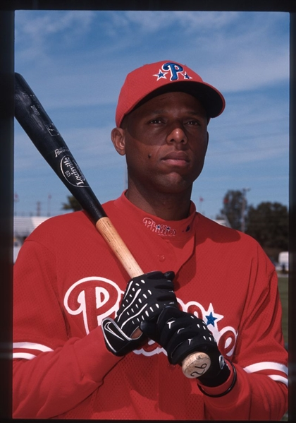 Lot of (12) 2000 Phillies ALEX ARIAS Original 35mm Slide Transparencies